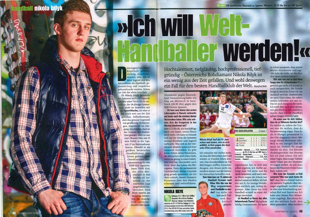 2015-06-09 - Sportwoche (Niko Bilyk Story), Seite 1