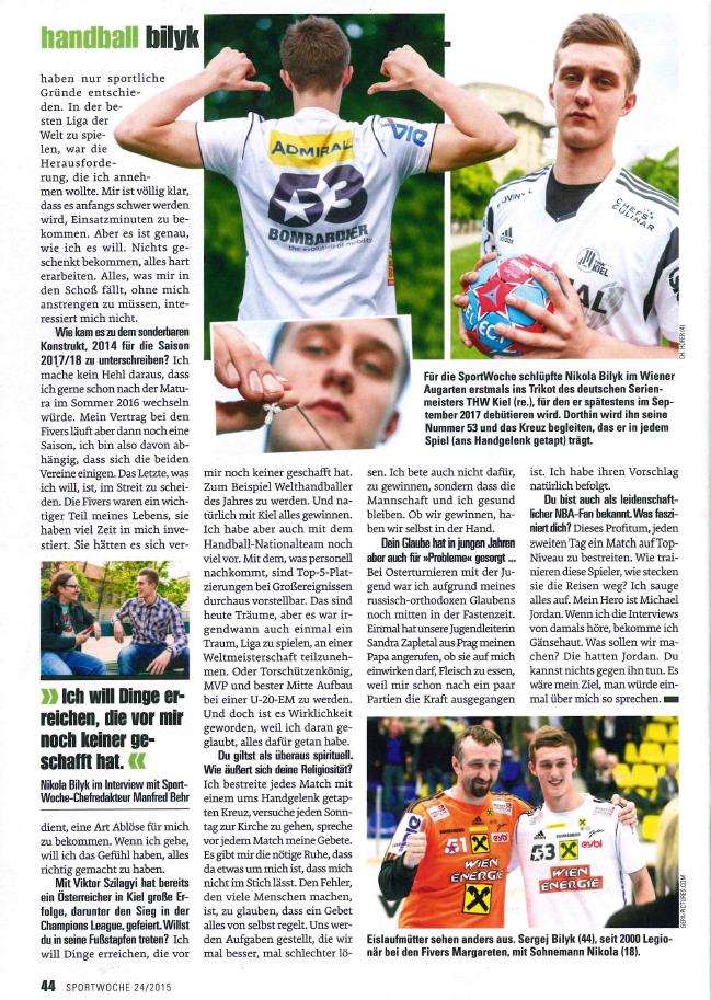 2015-06-09 - Sportwoche (Story über Niko Bilyk), Seite 2