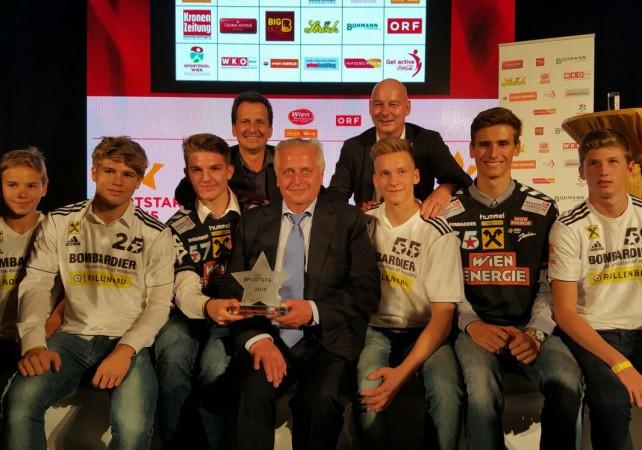 Sportstars 2015 - Verein mit bester Nachwuchsarbeit - mit Hundstorfer und Oxonisch