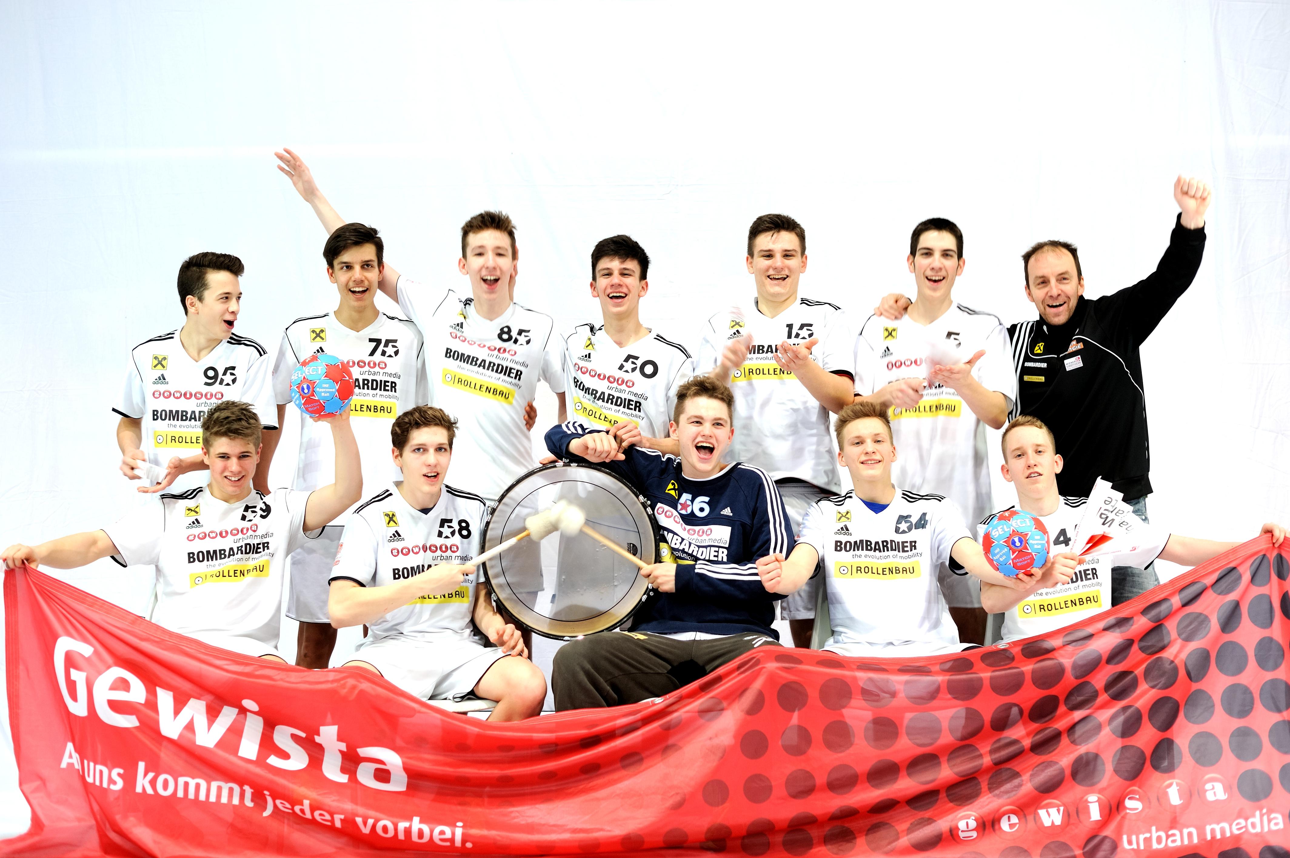 U15 mit Pate_GEWISTA_Saison 2014-15