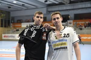 2016-01-19 - Ivan und Marin Martinovic beim internen HLA-HBA-Trainingsspiel_Foto FIVERS HANDBALL