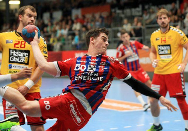 23.09.2016 Handball , Hollgasse , Wien Fivers - Krems Vincent Schweiger.  Copyright DIENER / PhilippSchalber