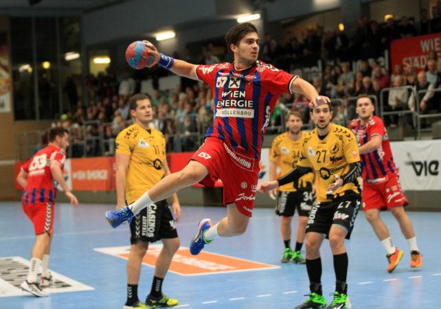 09.11.2016 Handball , Hollgasse , Wien Fivers - Bregenz Herbert Jonas. Copyright DIENER / PhilippSchalber