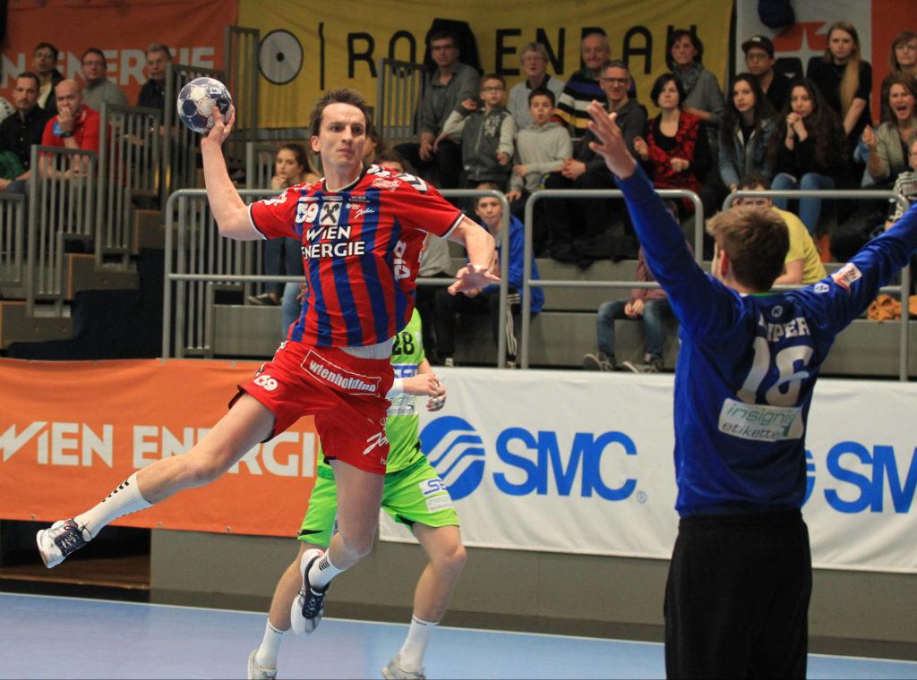 11.03.2017 Handball, Hollgasse, Wien, HLA Fivers Margareten - West Wien Markus KOLAR, Kaiper Florian, Copyright DIENER / Eva Manhart www.diener.at