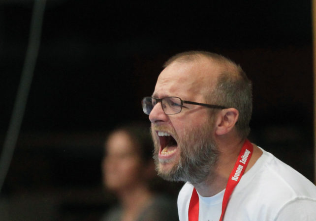 01.09.2017 Handball , Hollgasse , Wien Fivers - Schwaz Peter Eckl. Copyright DIENER / PhilippSchalber