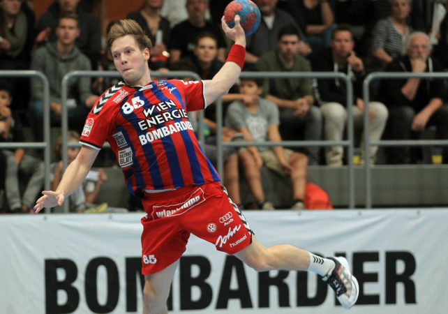 15.09.2017 Handball , Hollgasse , Wien Fivers - Krems David Brandfellner. Copyright DIENER / PhilippSchalber