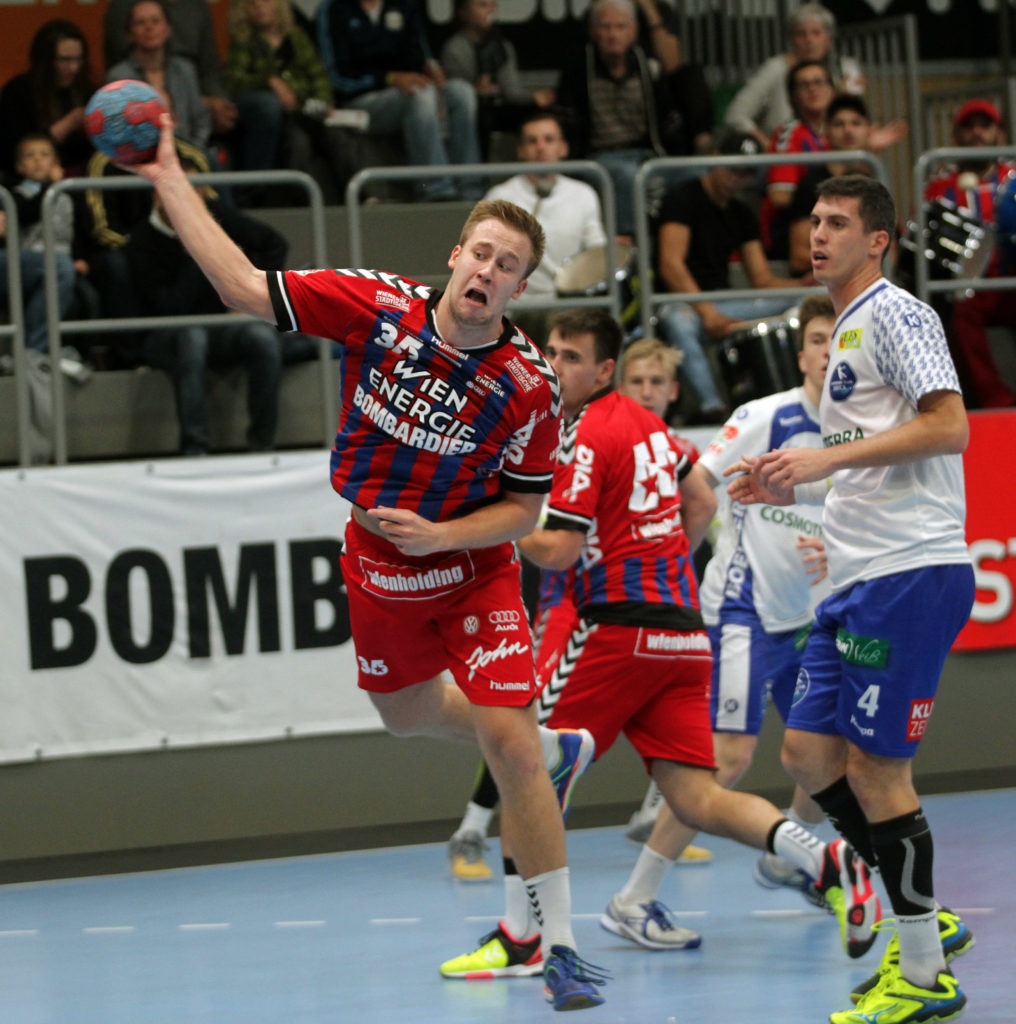 07.10.2017 Handball , Hollgasse , Wien Fivers - Bruck CopyLeander Brenneis.