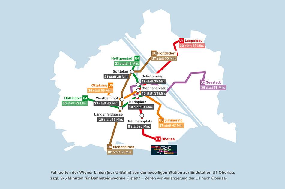 Anfahrt Therme Wien U-Bahn