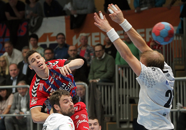 04.10.2017 Handball , Hollgasse , Wien Fivers - Hard Ivan Martinovic. Copyright DIENER / PhilippSchalber