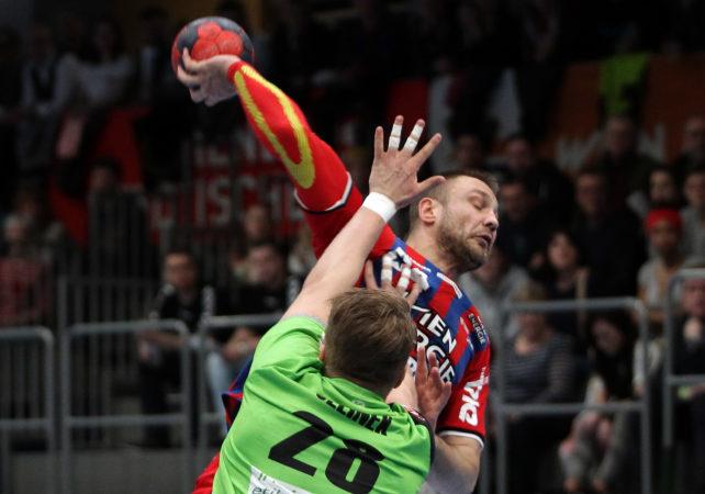 30.03.2018 Wien, Handball , Fivers - West Wien , Vytas Ziura  , Copyright DIENER / Philipp Schalber