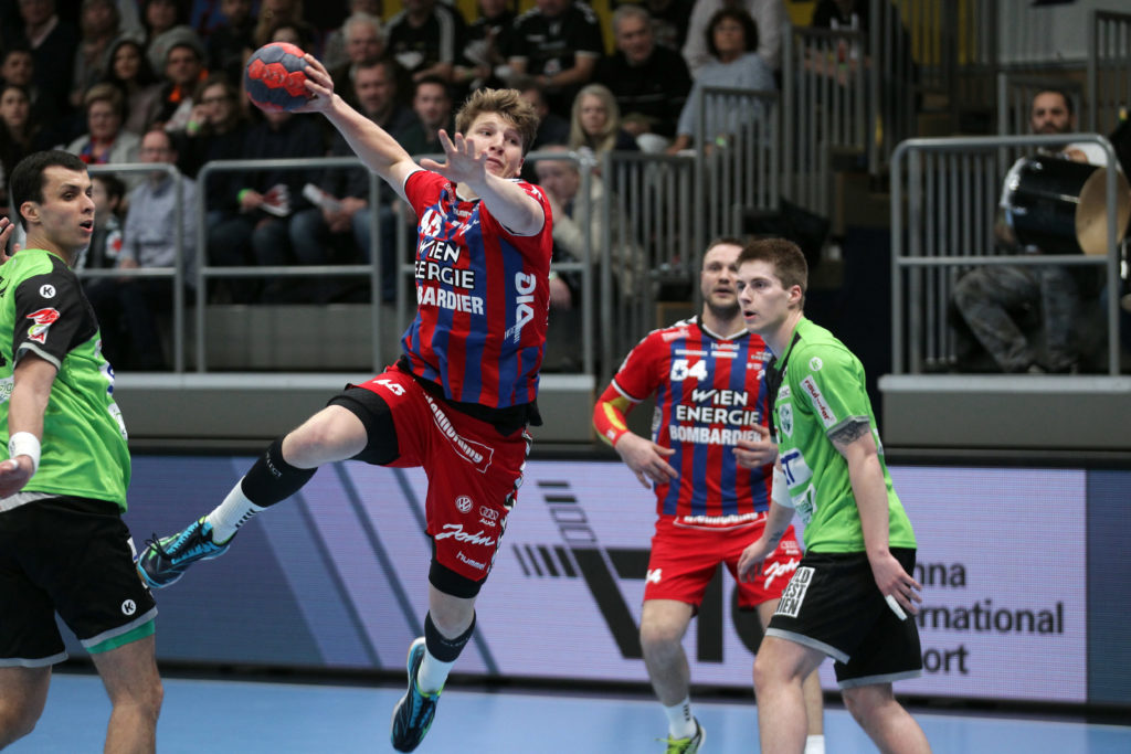 30.03.2018 Wien, Handball , Fivers - West Wien , Lukas Hutecek , Copyright DIENER / Philipp Schalber
