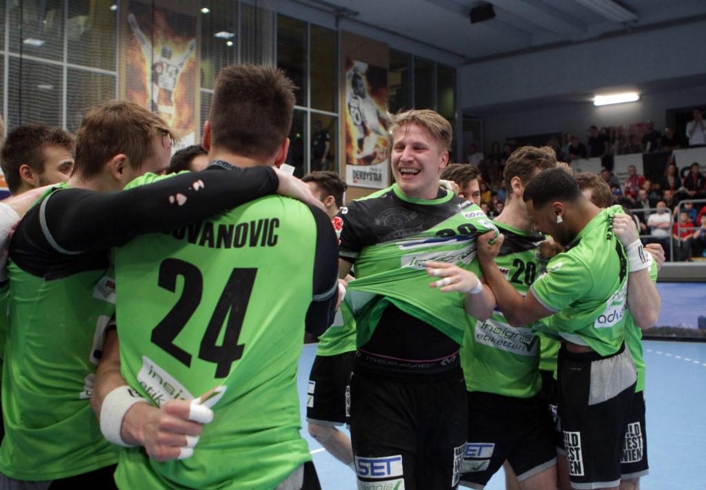 30.03.2018 Wien, Handball , Fivers - West Wien , Jubel , Wilhelm Jelinek , Copyright DIENER / Philipp Schalber