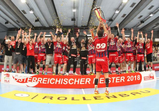 29.05.2018 Handball, Sporthalle Margareten, Wien, HLA, Finale, Fivers - Hard   Copyright DIENER / Eva Manhart