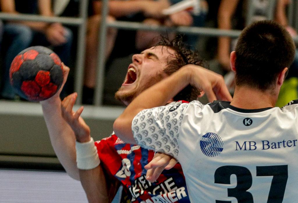 23.05.2018 Handball, HLA, Wien, Hollgasse, Fivers - Hard, Vincent Schweiger , Copyright DIENER / Philipp Schalber