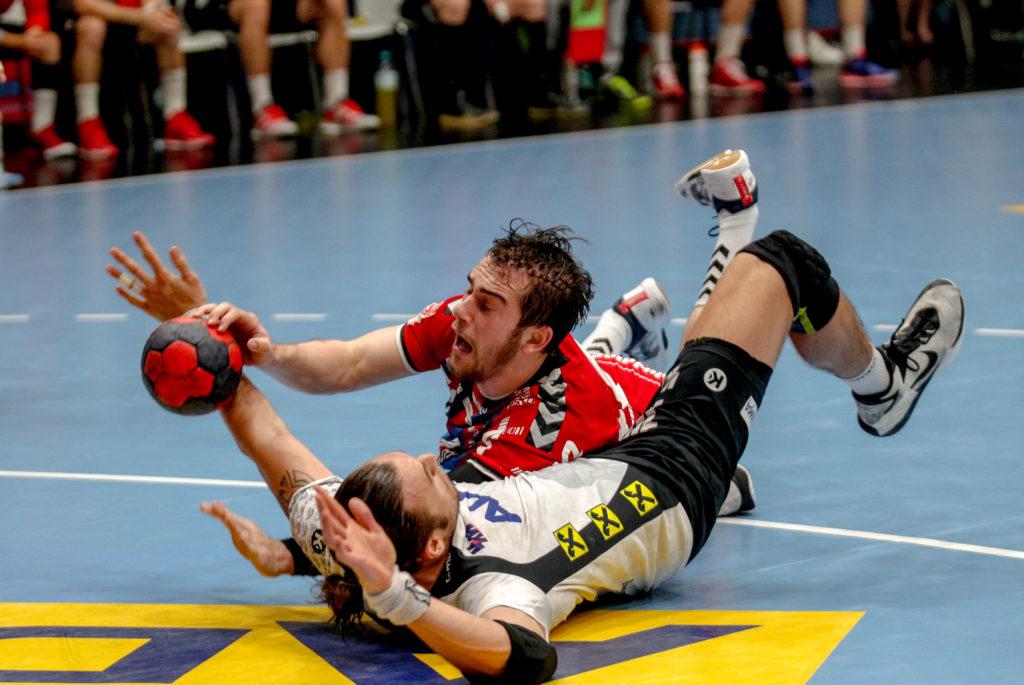 29.05.2018 Handball, HLA, Wien, Hollgasse, Fivers - Hard, Vincent Schweiger , Frederic Wuestner , Copyright DIENER / Philipp Schalber