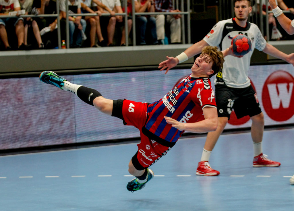 29.05.2018 Handball, HLA, Wien, Hollgasse, Fivers - Hard, Lukas Hutecek , Copyright DIENER / Philipp Schalber