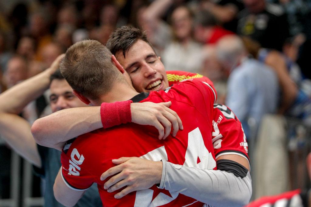 29.05.2018 Handball, HLA, Wien, Hollgasse, Fivers - Hard, Ivan Martinovic , Vytas Ziura , Copyright DIENER / Philipp Schalber