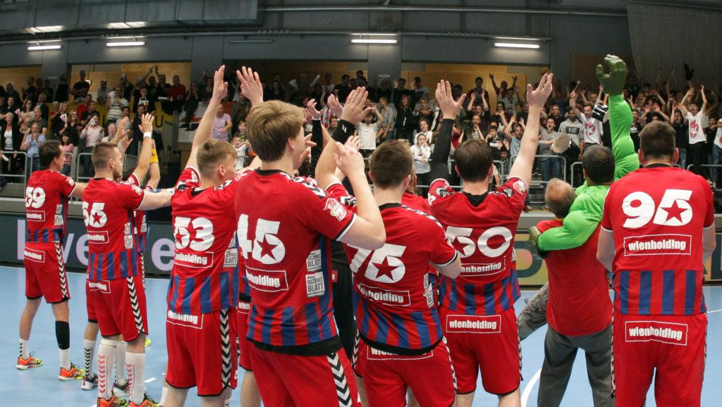 15.05.2018 Handball, HLA, Fivers - Krems, Jubel , Fans ,Copyright DIENER / Philipp Schalber
