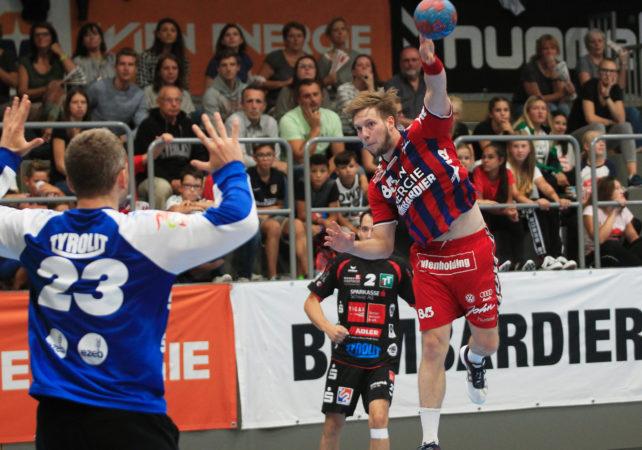 01.09.2017 Handball , Hollgasse , Wien Fivers - Schwaz David Brandfellner. Copyright DIENER / PhilippSchalber