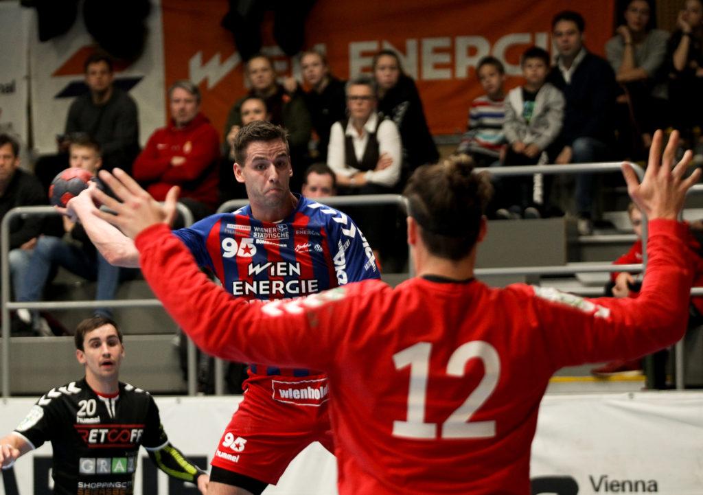 17.11.2018 Handball, HLA, Wien, Hollgasse, Fivers - Graz, Thomas Seidl , Copyright DIENER / Philipp Schalber