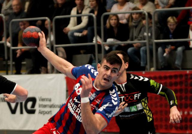 17.11.2018 Handball, HLA, Wien, Hollgasse, Fivers - Graz,  Doruk Pehlivan , Copyright DIENER / Philipp Schalber
