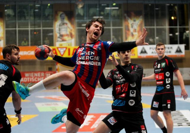 21.12.2018 Handball, HLA, Wien, Hollgasse, Fivers - Schwaz, Vincent Schweiger  , Copyright DIENER / Philipp Schalber
