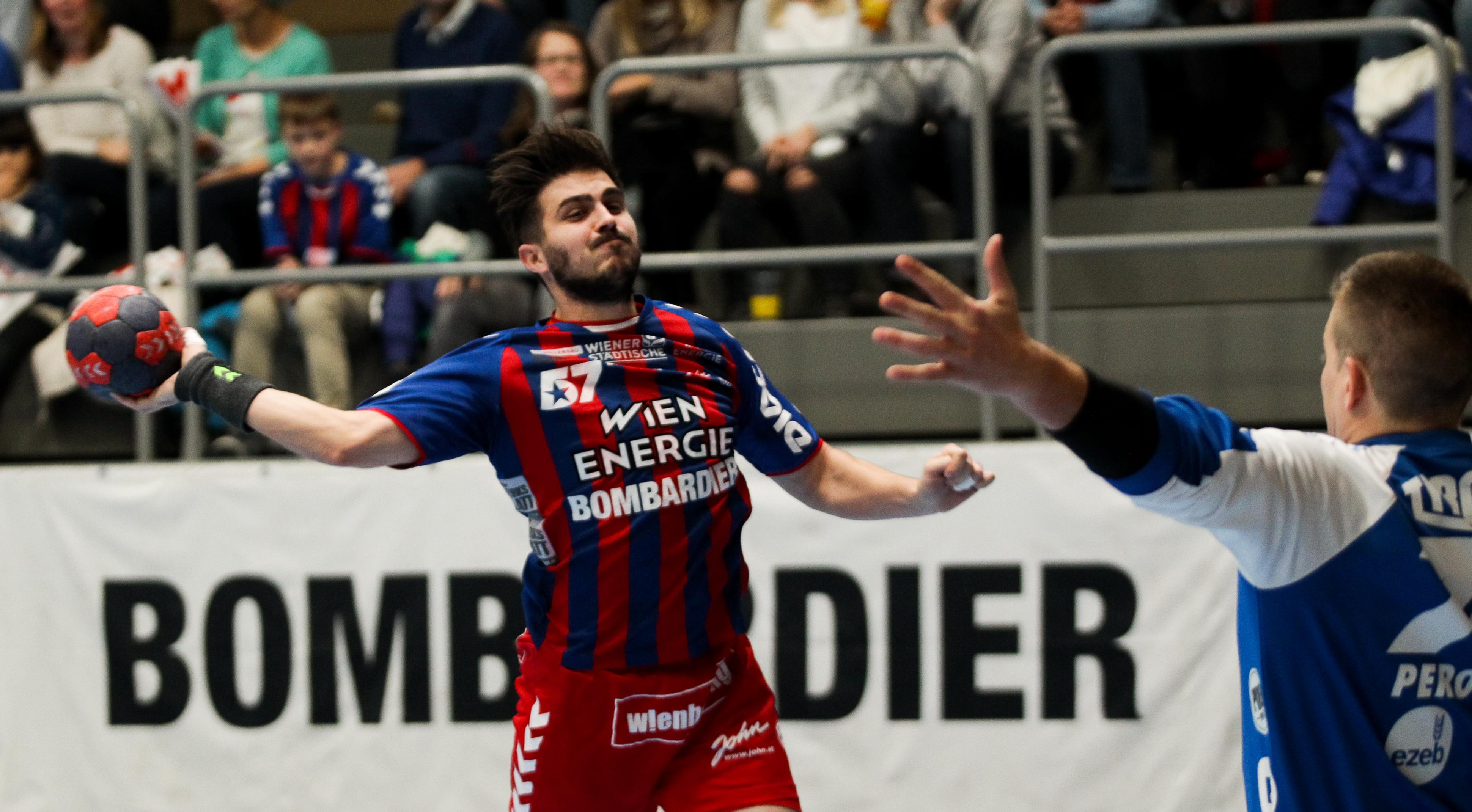 21.12.2018 Handball, HLA, Wien, Hollgasse, Fivers - Schwaz, Herbert Jonas  , Copyright DIENER / Philipp Schalber
