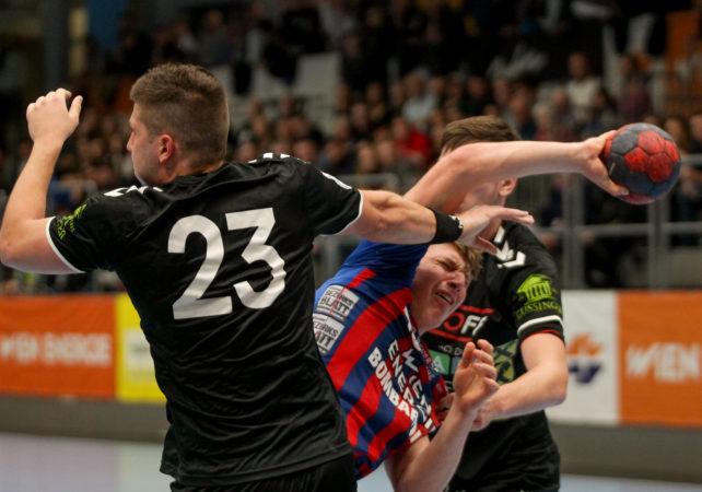 17.11.2018 Handball, HLA, Wien, Hollgasse, Fivers - Graz,  Lukas Hutecek , Copyright DIENER / Philipp Schalber