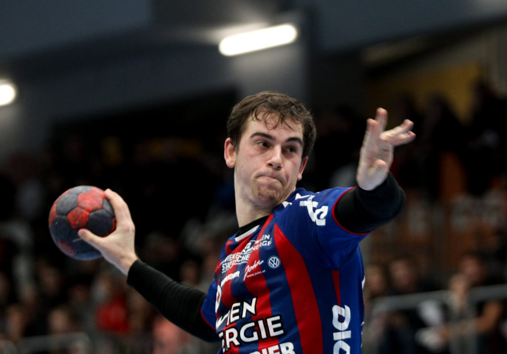 17.11.2018 Handball, HLA, Wien, Hollgasse, Fivers - Graz, Vincent Schweiger , Copyright DIENER / Philipp Schalber