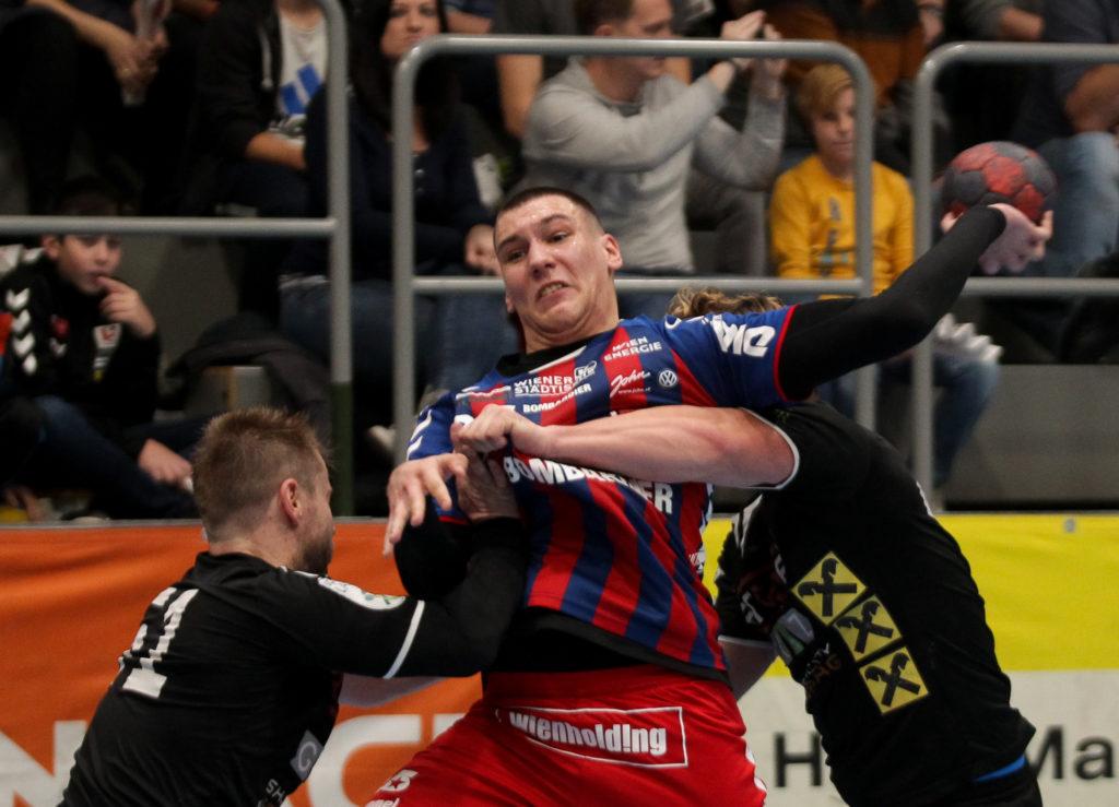 17.11.2018 Handball, HLA, Wien, Hollgasse, Fivers - Graz, Nikola Stevanovic , Copyright DIENER / Philipp Schalber
