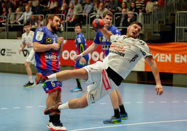 05.04.2019 Handball, HLA, Wien, Hollgasse, Fivers - Leoben,  Tobias Wagner , Copyright DIENER / Philipp Schalber