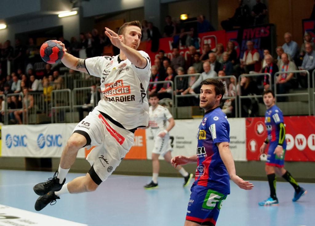 05.04.2019 Handball, HLA, Wien, Hollgasse, Fivers - Leoben, Mathias Nikolic , Copyright DIENER / Philipp Schalber