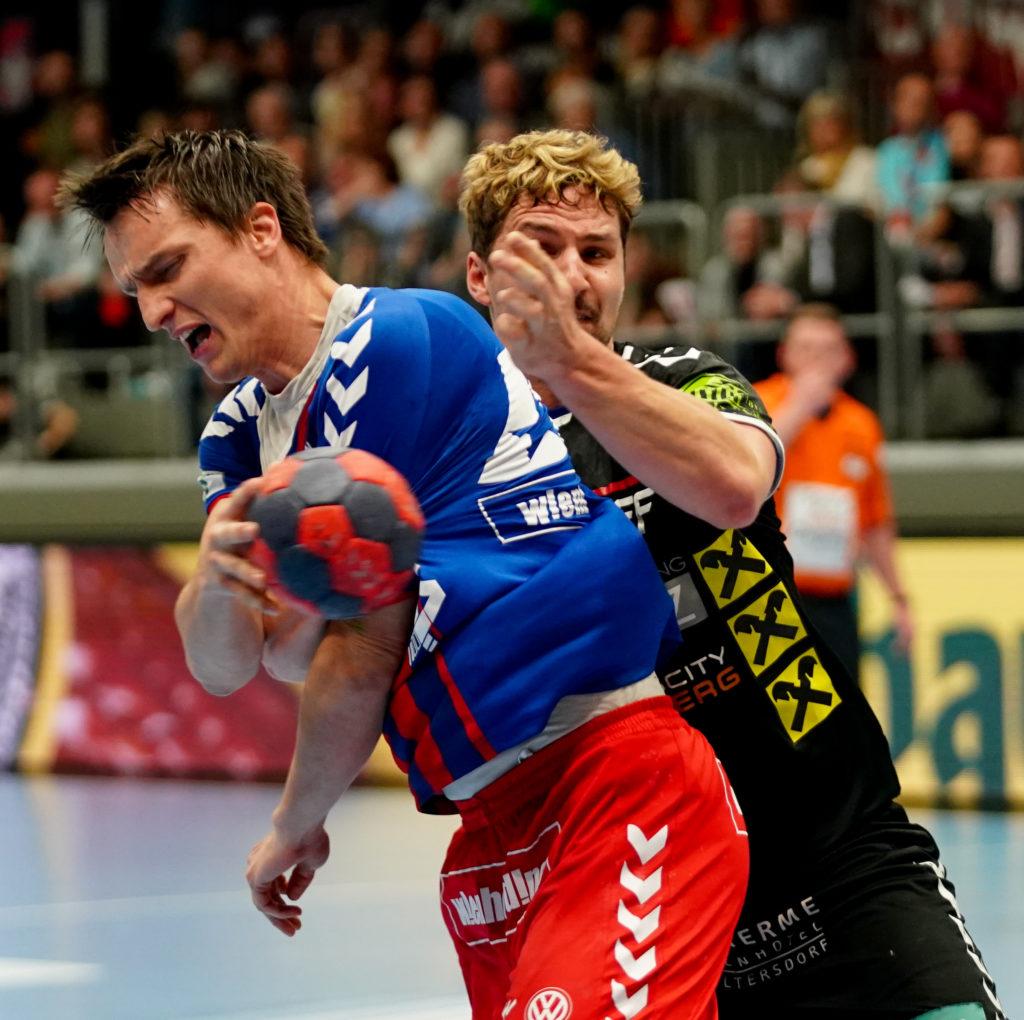 29.04.2019 Handball, HLA, Wien, Hollgasse, Fivers - Graz, Markus Kolar , Philipp Moritz , Copyright DIENER / Philipp Schalber