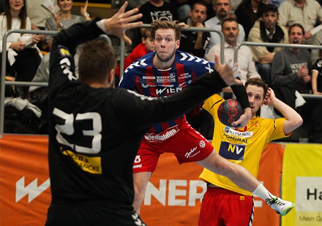 18.12.2018 Handball, HLA, Wien, Hollgasse, Fivers - Krems, David Brandfellner , Copyright DIENER / Philipp Schalber