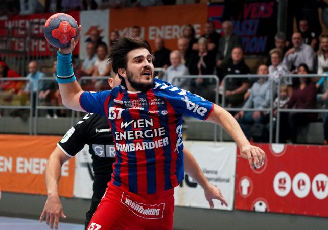 19.09.2019 Handball, HLA, Wien, Hollgasse, Fivers - Graz,   Herbert Jonas  , Copyright DIENER / Philipp Schalber