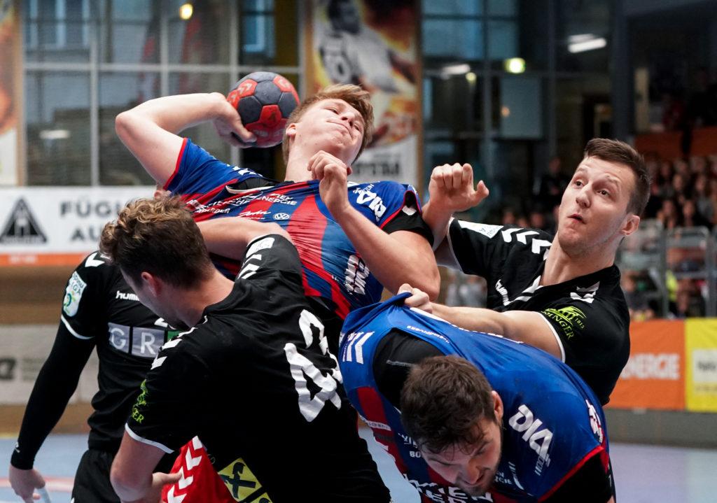 19.09.2019 Handball, HLA, Wien, Hollgasse, Fivers - Graz, Lukas Hutecek , Copyright DIENER / Philipp Schalber