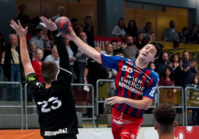 19.09.2019 Handball, HLA, Wien, Hollgasse, Fivers - Graz,  Marin Martinovic  , Copyright DIENER / Philipp Schalber