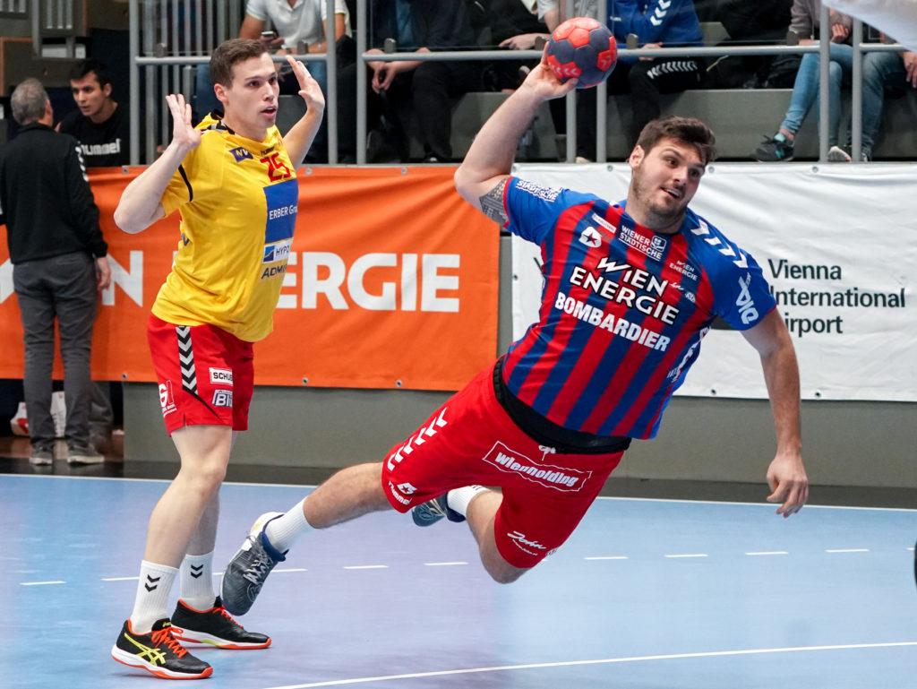 01.11.2019 Handball, HLA, Wien, Hollgasse, Fivers - Krems, Tobias Wagner , Copyright DIENER / Philipp Schalber