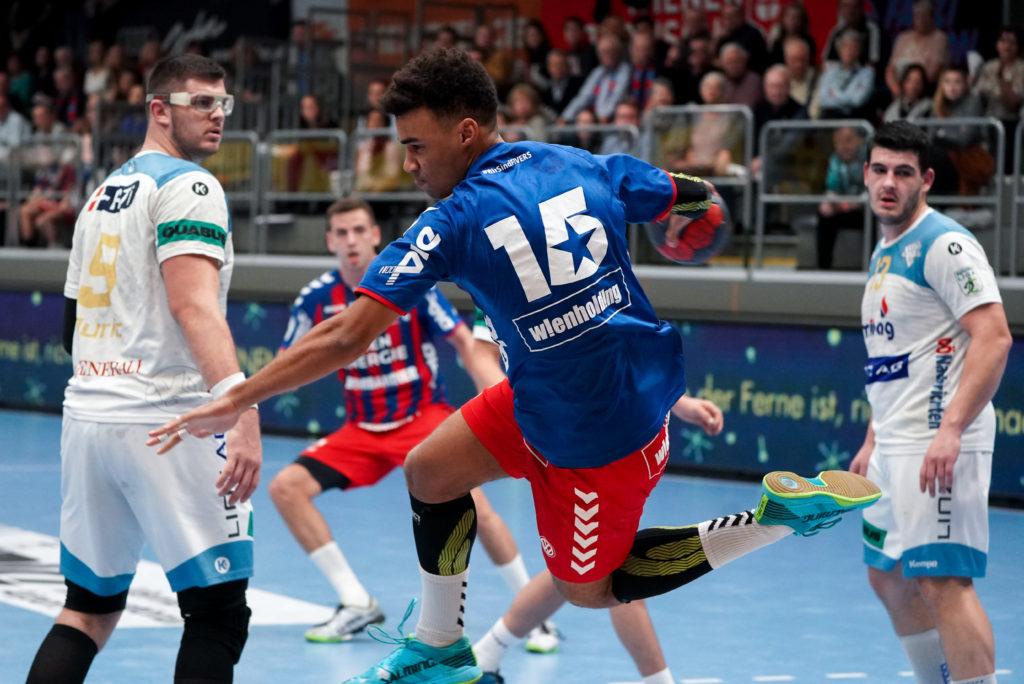 30.11.2019 Handball, HLA, Wien, Hollgasse, Fivers - Linz, Eric Damboeck , Copyright DIENER / Philipp Schalber