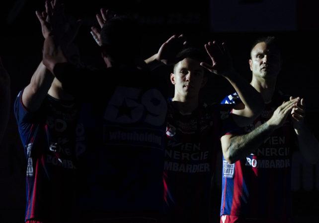 29.04.2019 Handball, Sporthalle Margareten, Wien, spusu Liga, HC FIVERS WAT Margareten - HC Hard,  Vytautas Ziura,   Copyright DIENER / Eva Manhart