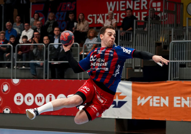 03.10.2019 Handball, HLA, Wien, Hollgasse, Fivers - Bregenz,  Vincent Schweiger  , Copyright DIENER / Philipp Schalber