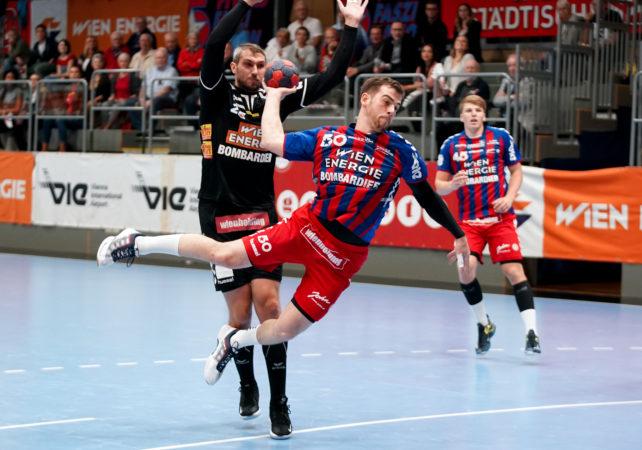 18.09.2019 Handball, HLA, Wien, Hollgasse, Fivers - Schwaz, Vincent Schweiger   , Copyright DIENER / Philipp Schalber