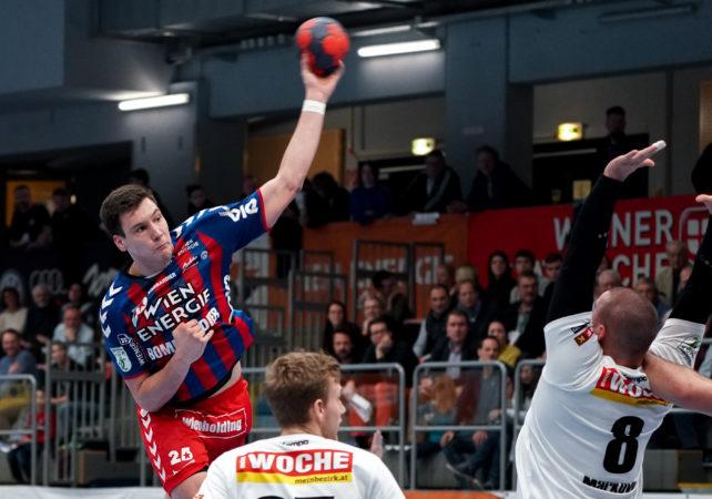 15.12.2019 Handball, HLA, Wien, Hollgasse, Fivers - Ferlach, Nikola Stevanovic  , Copyright DIENER / Philipp Schalber