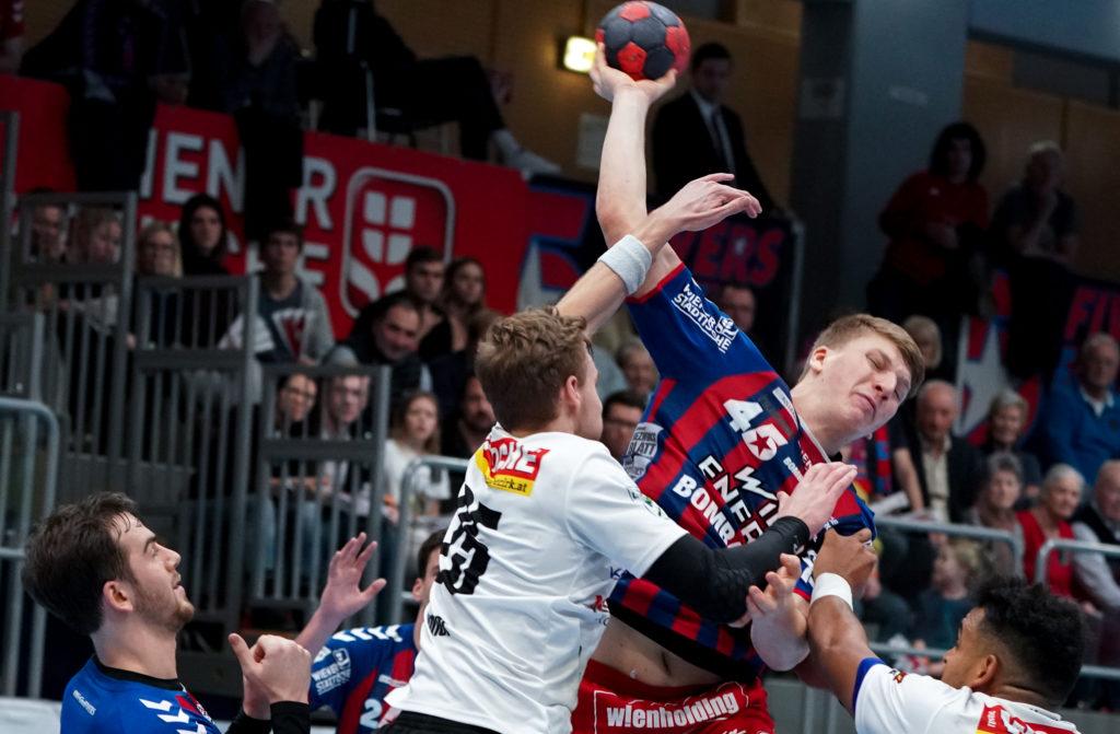 15.12.2019 Handball, HLA, Wien, Hollgasse, Fivers - Ferlach, Lukas Hutecek , Copyright DIENER / Philipp Schalber