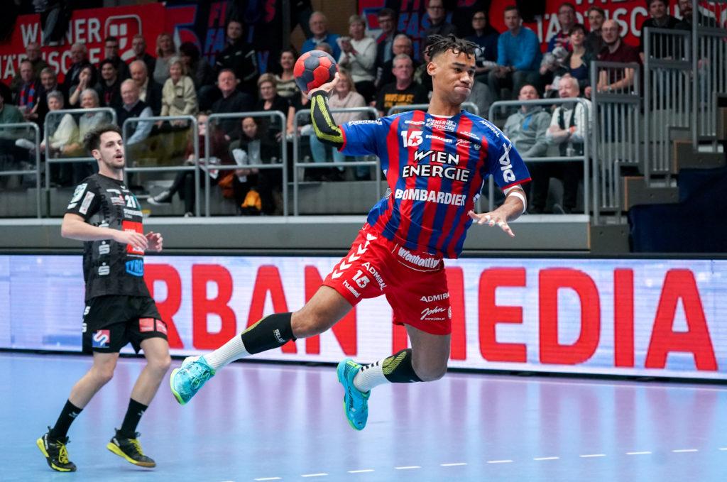 09.02.2020 Handball, HLA, Wien, Hollgasse, Fivers - Schwaz,  Eric Damboeck  , Copyright DIENER / Philipp Schalber