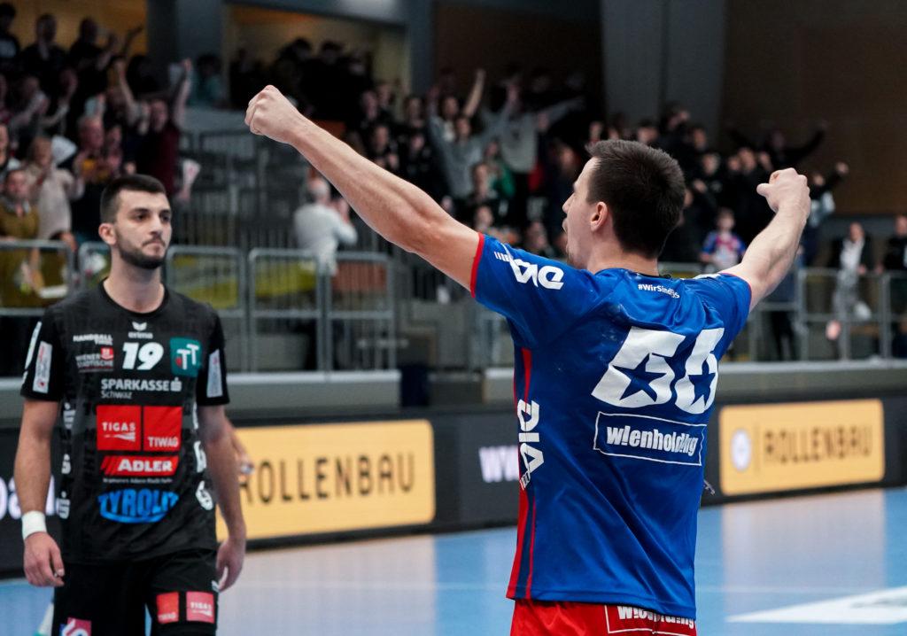 09.02.2020 Handball, HLA, Wien, Hollgasse, Fivers - Schwaz, Marin Martinovic  , Copyright DIENER / Philipp Schalber