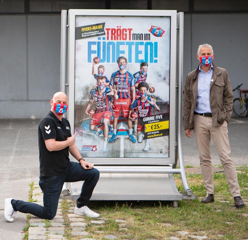 FIVERS-Manager Thomas Menzl und Gewista CEO Franz Solta