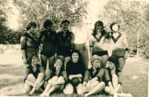 Lanc mit Margaretner Damenmannschaft 1960