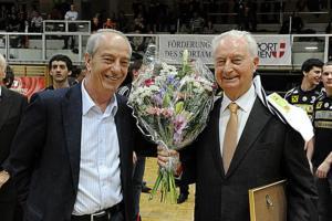 Zwei Präsidenten: Erwin Lanc und Gerhard Hofbauer
